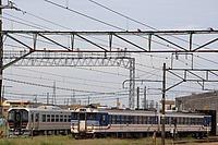 train, sky, track, outdoor, vehicle, rail, land vehicle, railroad, locomotive, transport, traveling, long, engine, several