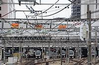 building, train, station, factory, land vehicle, railroad, vehicle