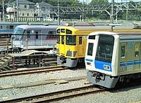outdoor, railroad, track, transport, rail, land vehicle, vehicle, station, train, blue