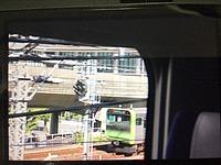 window, train, indoor, vehicle, land vehicle, text, station