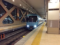 indoor, floor, platform, ceiling, station, land vehicle, vehicle, public transport, train station, train