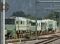 outdoor, track, rail, locomotive, transport, train, land vehicle, vehicle, railroad, traveling, day