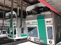 train, vehicle, land vehicle, text, public transport